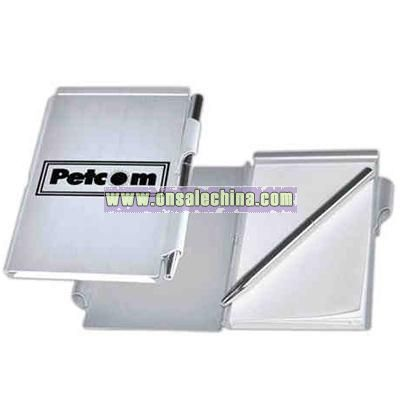Aluminum jotter with metal ballpoint