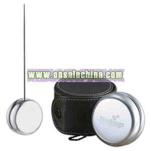 Brushed metal finish yo-yo