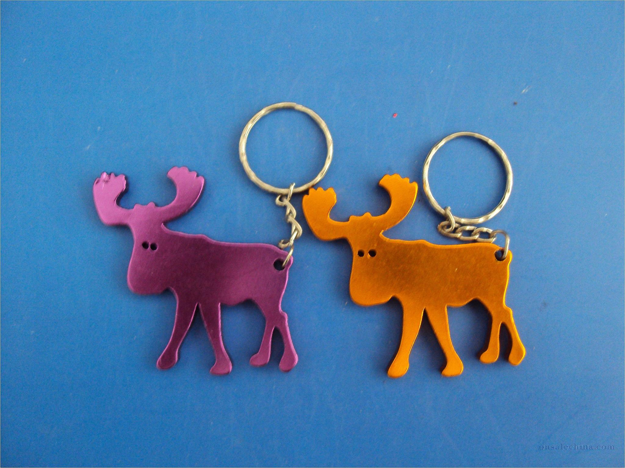Elk bottle opener key chain