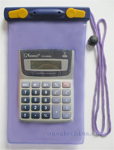 Waterproof calculator case