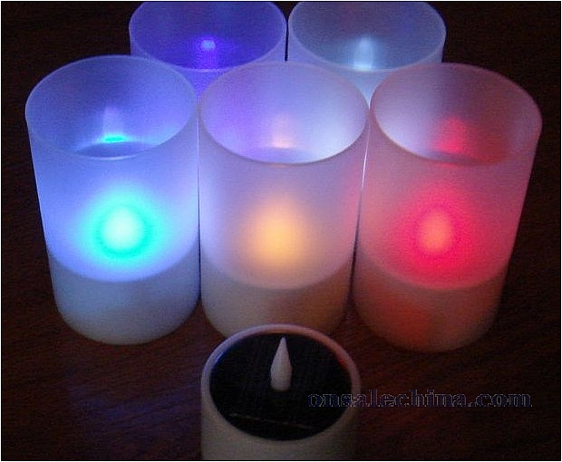 Solar Power Candle Light