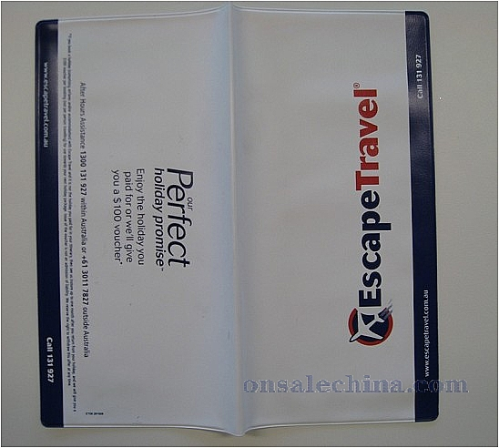 PVC cheque book holder