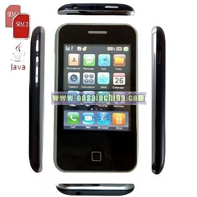 Quad Band Dual SIM Card with Java & Bluetooth Unlocked Cell Phone