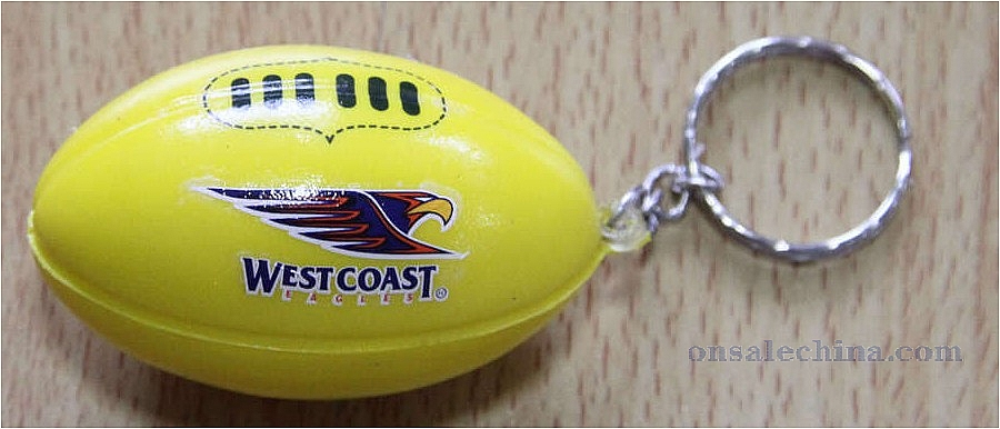 Rugby ball keychain