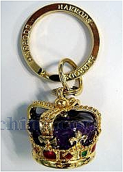 Gold Diamond Crown Keychain