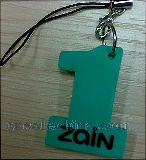 Number one shape keychain