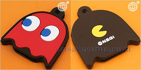 Pac-Man Monsters Rubber Key Co