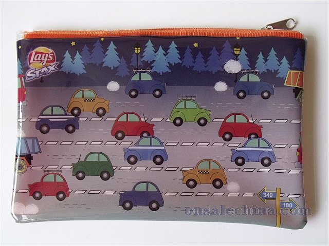 Printed Pencil Bag With Zipper